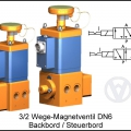 Switching valve solenoid controlled seawater