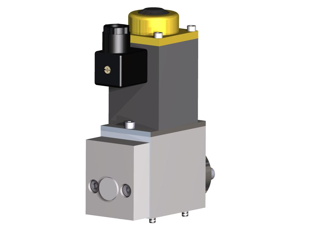 2/2 Wege Kegelsitzventil DN 6 Wasserhydraulik elektrisch