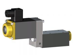 3/2 Wege Kugelsitzventil DN 6 Wasserhydraulik elektromagnet gesteuert